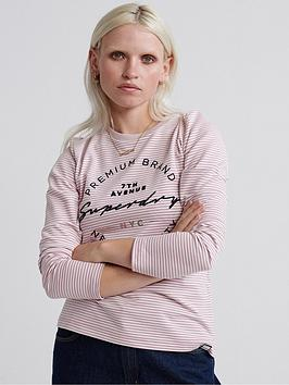 superdry-superdry-dunne-stripe-long-sleeved-graphic-top