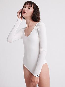 superdry-v-neck-rib-thong-body-suit