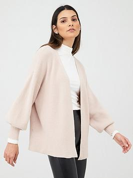 v-by-very-balloon-sleeve-short-cardigan-camel