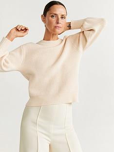 mango-ribbed-puff-sleeve-jumper-pastel-grey