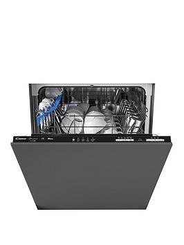 Candy Cdin 1L380Pb-80 Integrated Wifi 60 Cm Dishwasher, 13 Place Settings. A+, Black Trim - Dishwasher With Installation