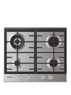 hoover-hhg6br4mx-60-cm-gas-hob-4-burners-front-control-cast-iron-pan-supports-stainless-steel