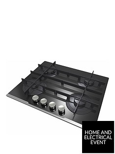 hoover-hgv64stcv-b-60-cm-gas-hob-4-burners-front-control-cast-iron-pan-supports-black