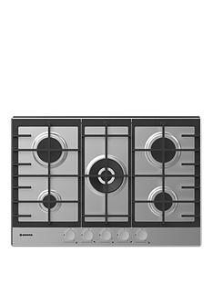 hoover-hhg75wmx-75-cm-gas-hob-5-burners-front-control-cast-iron-pan-supports-stainless-steel