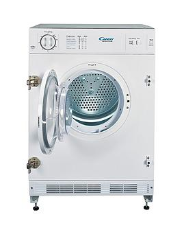 Candy Cbtd7Vw-80 7Kg Vented Integrated Tumble Dryer - White - Dryer With Installation