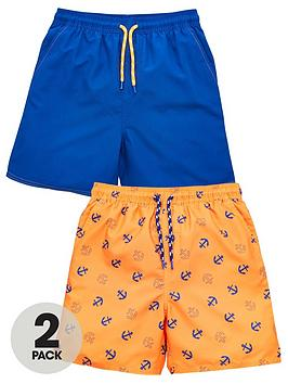 v-by-very-boys-2-pack-nautical-swimshorts-blue