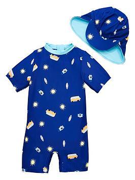 v-by-very-boys-camper-van-sunsafe-suit-amp-hat-set-navy