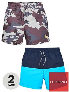 v-by-very-boys-2-pack-swim-shorts-camocolour-blocknbsp