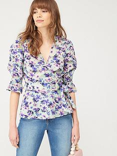 v-by-very-cotton-wrap-blouse-tropical-print
