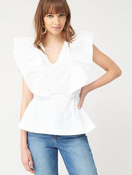 v-by-very-ruffle-cottonnbspblouse-white