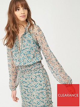 v-by-very-shirred-waist-ladder-trim-blouse-floral