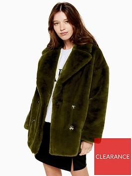 topshop-velvet-faux-fur-coat--khaki
