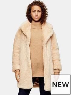 topshop-mid-length-faux-fur-jacket--nude