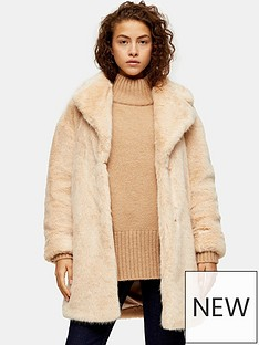 topshop-mid-length-faux-fur-jacket-nude