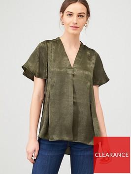v-by-very-essentialnbspshort-sleeve-notch-neck-top-khaki