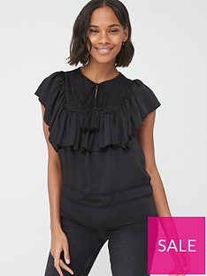 v-by-very-dobby-spot-embroidered-tunic-black