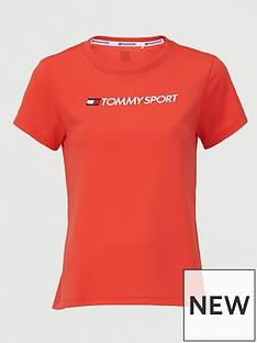 tommy-hilfiger-performance-chest-logo-top-coralnbsp