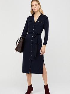 monsoon-bella-button-down-dress-navy