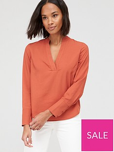 v-by-very-notch-neck-shirt-orange