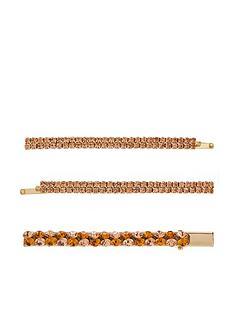accessorize-3-x-bronze-gem-hairnbspslides-gold