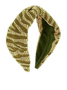 accessorize-zebra-embellished-alice-hair-band-green