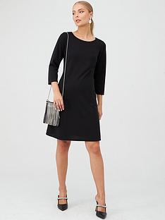 wallis-bucket-pocket-swing-dress-black