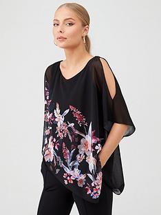 wallis-magnolia-floral-overlay-top-black