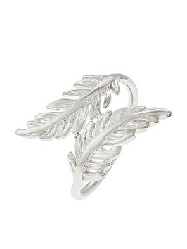 accessorize-sterling-feather-wrap-ring-silver