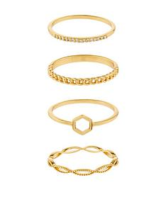 accessorize-z-4x-hexagon-ring-set-gold