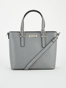 carvela-mini-hex-tote-bag-grey