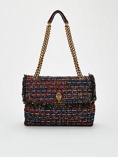 kurt-geiger-london-tweed-lg-kensington-x-shoulder-bag-red-multi