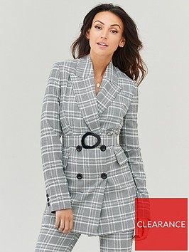 michelle-keegan-longline-belted-blazer-check