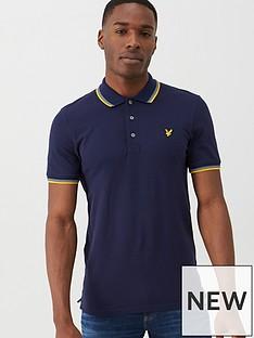 lyle-scott-tipped-polo-shirt