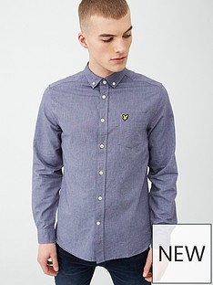 lyle-scott-oxford-shirt-blue-dust