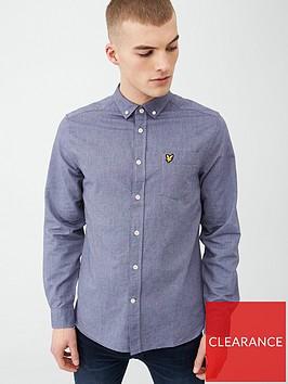 lyle-scott-oxford-shirt-blue-dust