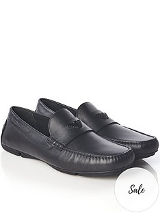 emporio-armani-menrsquos-leather-loafers-black