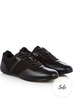 emporio-armani-mens-leather-amp-nylon-trainers-black