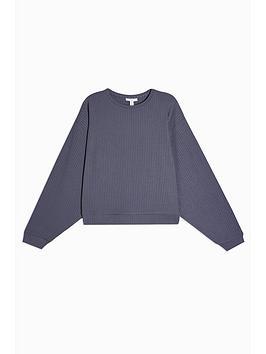 topshop-rib-slouch-pyjama-sweat-top-grey