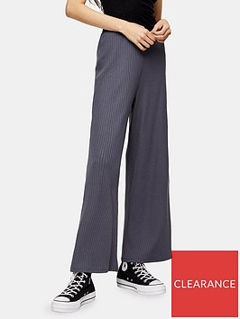 topshop-rib-slouch-trousers-grey