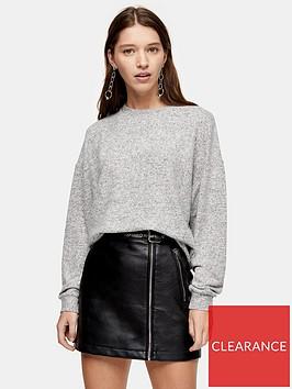 topshop-super-soft-sweat-pyjama-top-grey