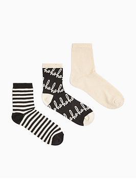 topshop-3-pack-ho-ho-ho-socks-multi