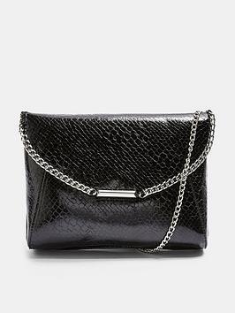 topshop-chain-clutch-bag-black