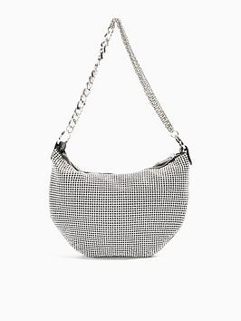 topshop-shaz-shoulder-bag-silver