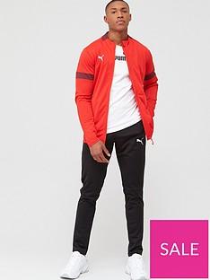 puma-football-tracksuit-red
