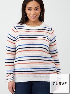 junarose-dilani-stripe-knit-jumper-vanilla