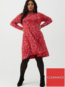 v-by-very-curve-swing-dress-print