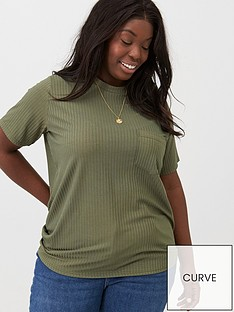 v-by-very-curve-slinky-rib-t-shirt-khaki