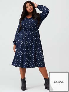 junarose-junarose-curve-nilla-ditsy-print-midi-dress