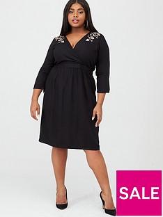junarose-octavia-embroidered-midi-dress-black