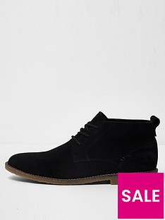 river-island-black-suede-chukka-boots